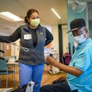 Respiratory therapists help patients